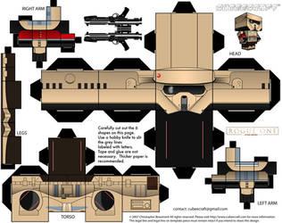 Stormtrooper: Rogue One Cubeecraft