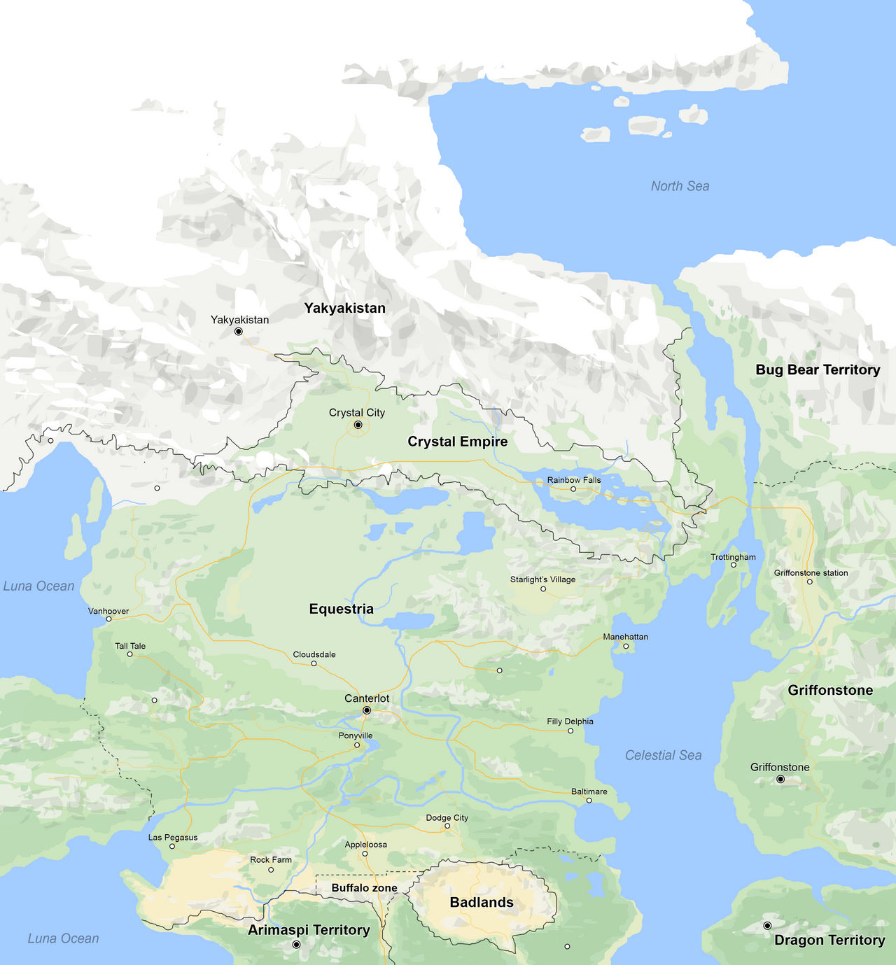Map of Equestria
