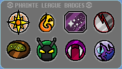 Phainte League Gym Badges by Jarino