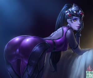 overwatch- widowmaker fan art by Limdog