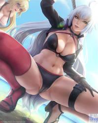 Jeanne on the beach