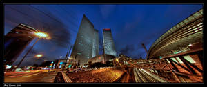 Azrieli Towers - Panorama by amassaf