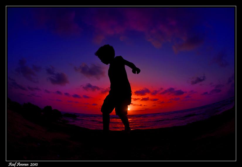Sunset Boy by amassaf