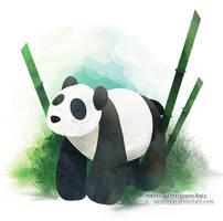: Paper panda : by GaruryKai