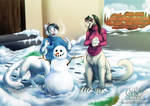 Commission: Snowy day