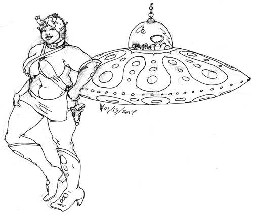UFO Girl by melallensink