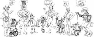 Punks and robots