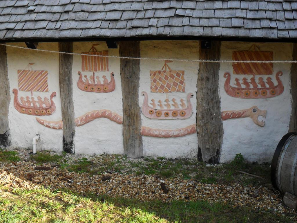 Viking longhouse wall design. by Iglybo