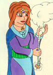 Frigg spins the clouds.
