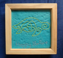 Turtle embroidery by Iglybo