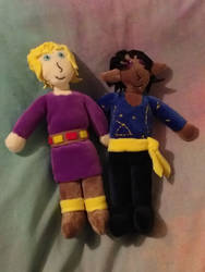 Will and Tyrian plushies