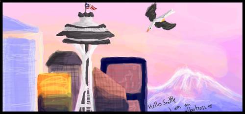Hello Seattle by Zhellana