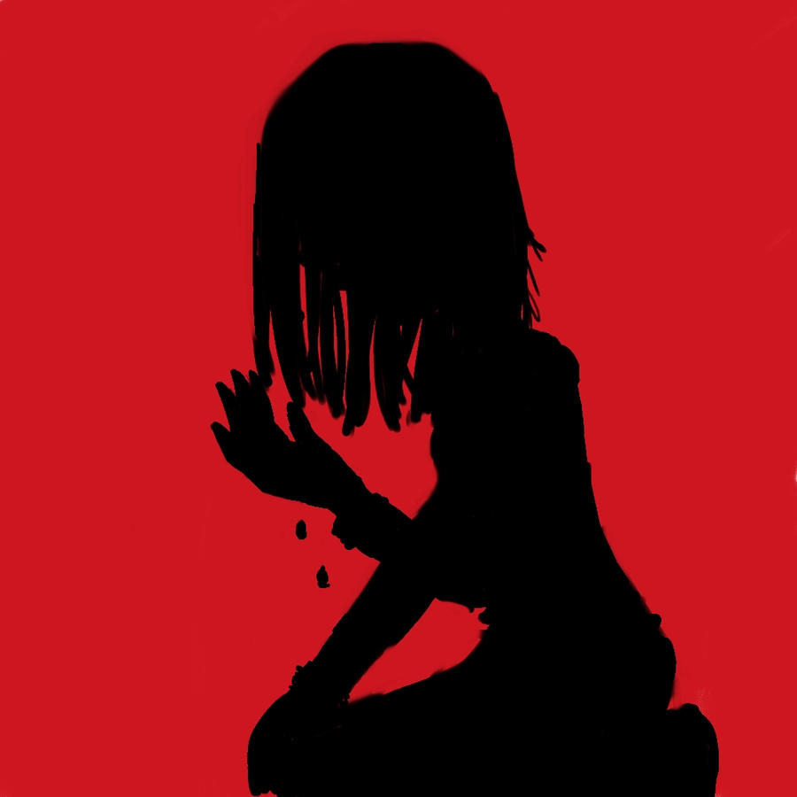 Crying Silhouette by BlackHacker117 on DeviantArt