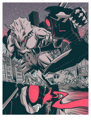 Ultra Trisaurus vs Okami Alpha Type by robertwilsoniv