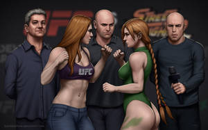 UFC vs Streetfighter: Rousey vs Cammy (weigh-in)
