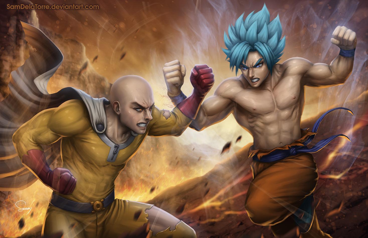 Saitama Vs Goku By SamDelaTorre