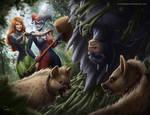 Batman vs Poison Ivy and Harley Quinn
