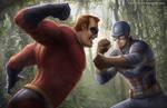 Mr. Incredible vs Captain America