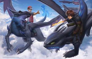 Mega Charizard vs Alpha Toothless by SamDelaTorre