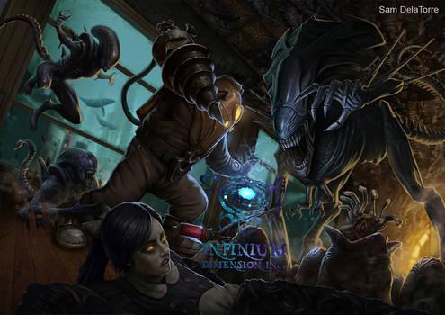 Bioshock vs Alien by SamDelaTorre