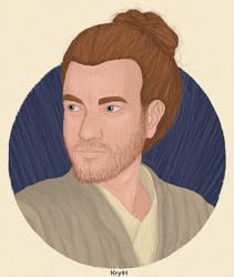 Obi-Wan Kenobi With Man Bun by Krystal91