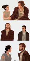 Obi-Wan and Rey - Master and Padawan AU