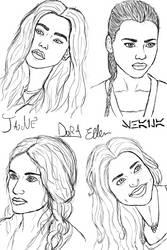 OCs Sketches by Krystal91