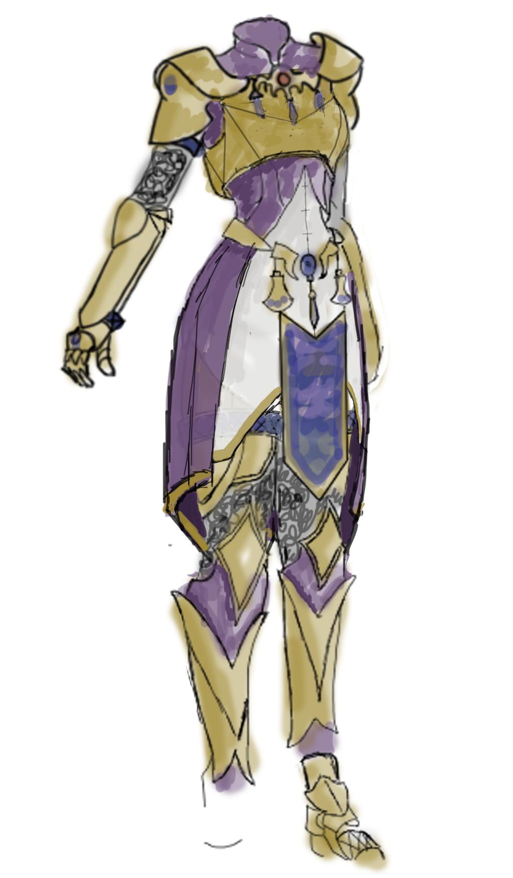 WIP Badass Zelda Armor Design by TzarinaRegina