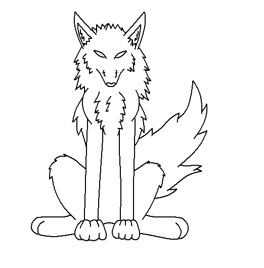 Cartoon wolf coloring pages wolf coloring pages free coloring pages - Sitting Wolf Base By Lozix On Deviantart