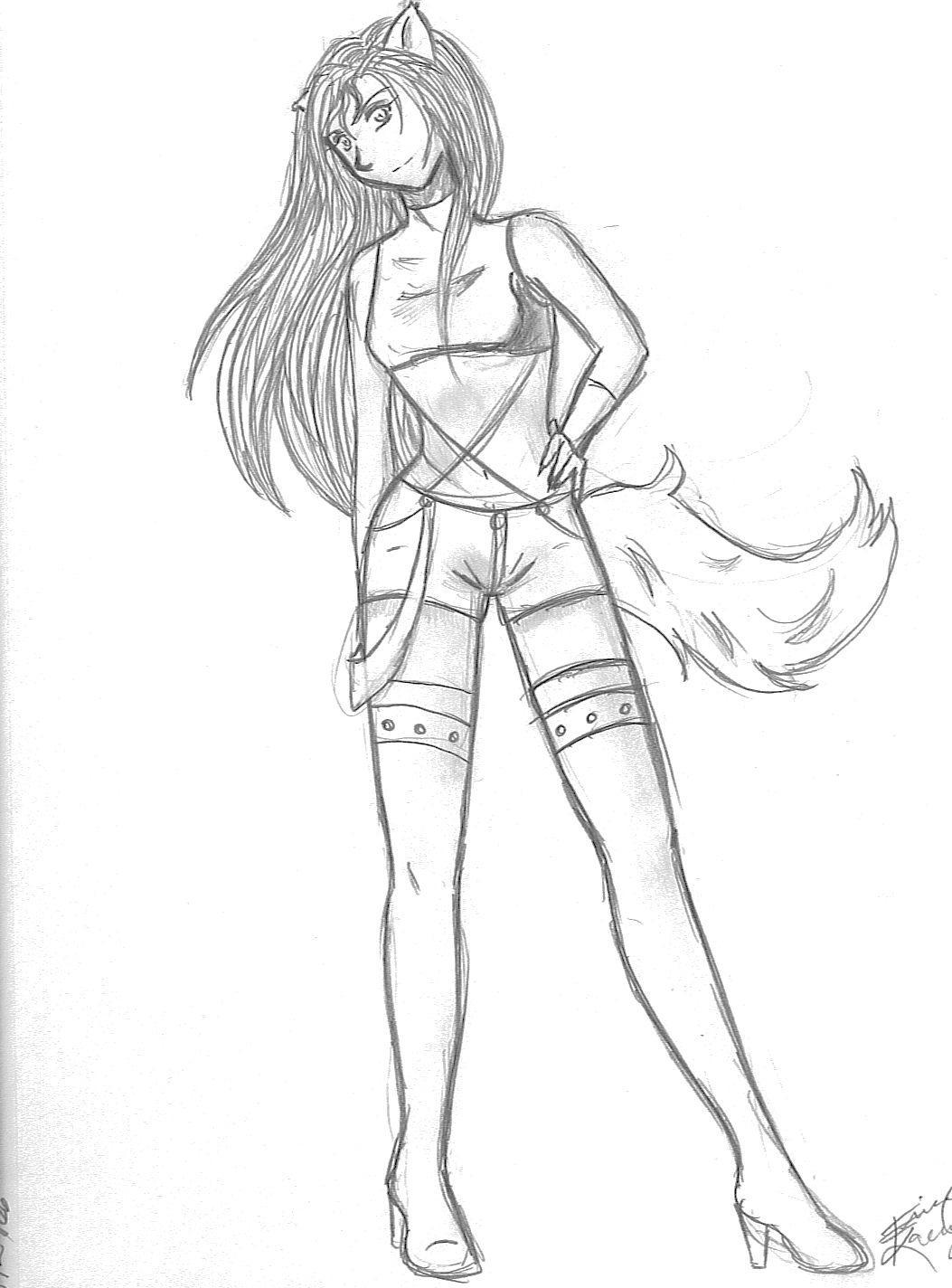 Wolf Girl Drawing  Photo#25