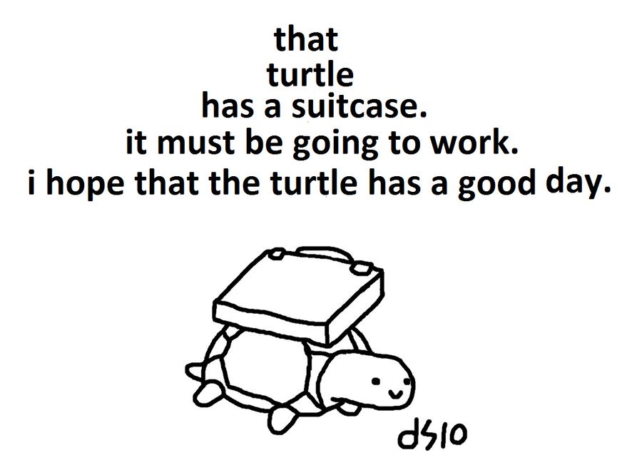 working class turtle by TwoDeeStuff