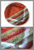 Fused glass plate 1 by Faeriedivine