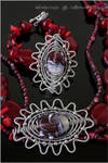 Coral garden - Wire wrapped set