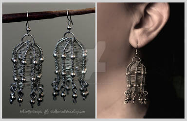 Wire cage earrings