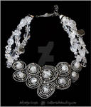 Crystals and Circles necklace