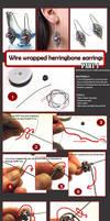 TUTORIAL - Wirewrapped herringbone earrings PT1