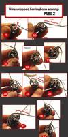 TUTORIAL - Wirewrapped herringbone earrings PT2