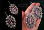 Made of stars - violet earrings
