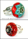 Harlequin and Fire ring