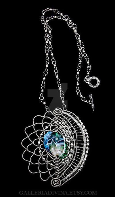 Mermaid scales - pendant by Faeriedivine