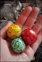 Dragon's eggs - GameofThrones inspired glass beads