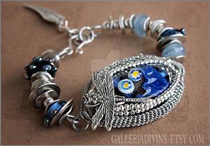 Lampwork wire wrapped Dragonfly bracelet