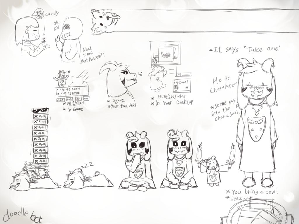Undertale Doodles By BOT-BlackOnTrack On DeviantArt