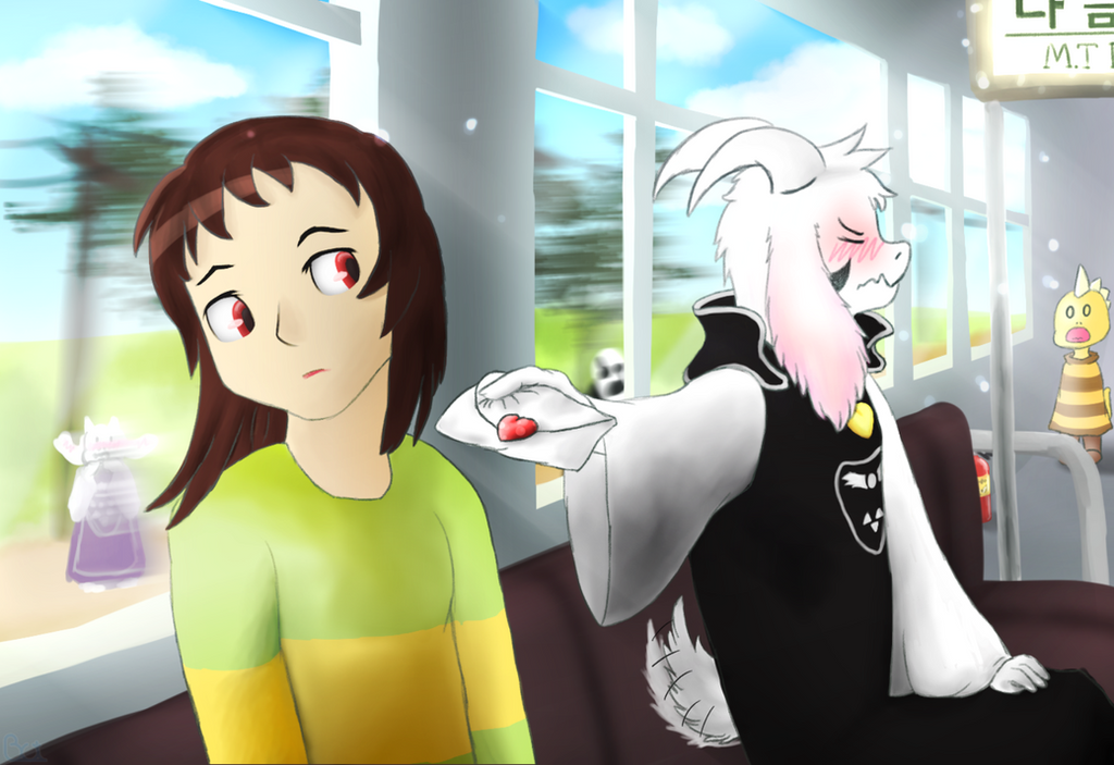 Chara and Asriel [UNDERTALE AU----StoryShift] by Ashirei