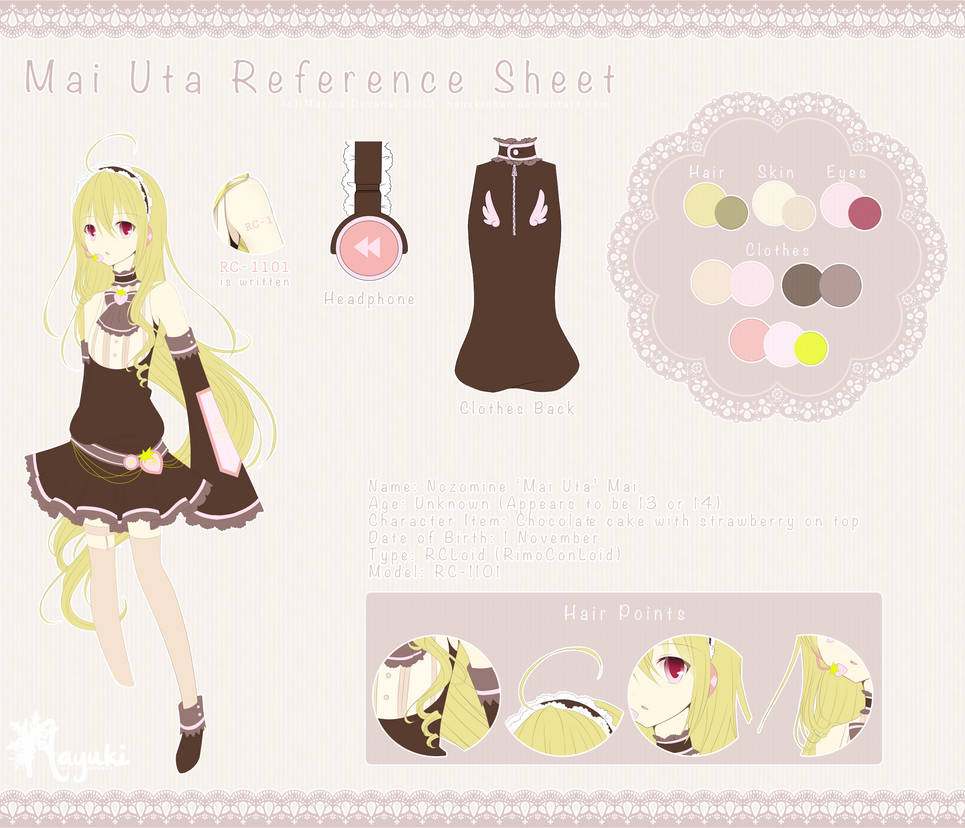 Mai Uta Reference Sheet by NayukiMarcia