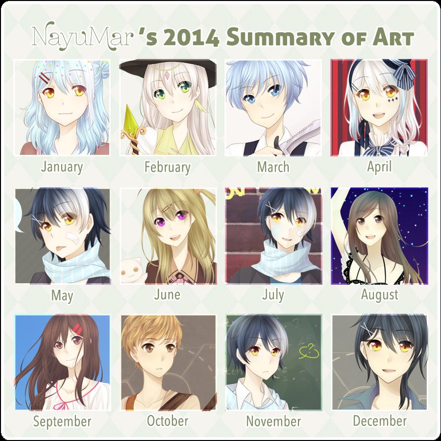 2014ArtSummary | Too much GDA stuff idek anymore by NayukiMarcia