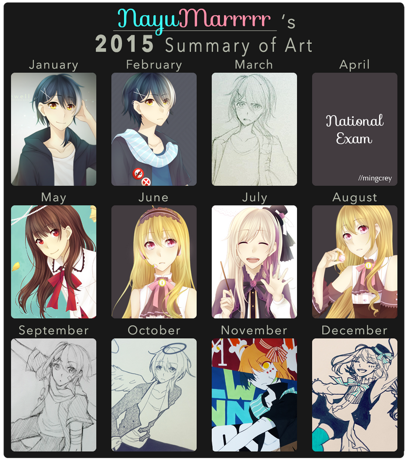 2015 Summary of Art cre by NayukiMarcia