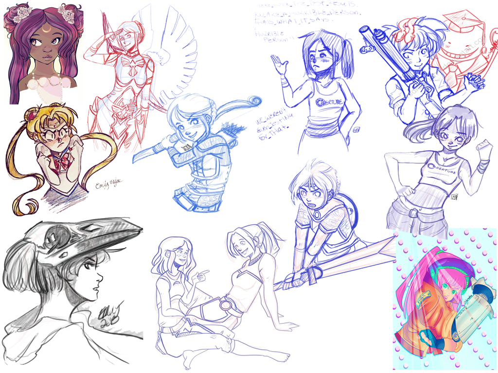 Sketch Dump Extravaganza by EmmersDrawberry