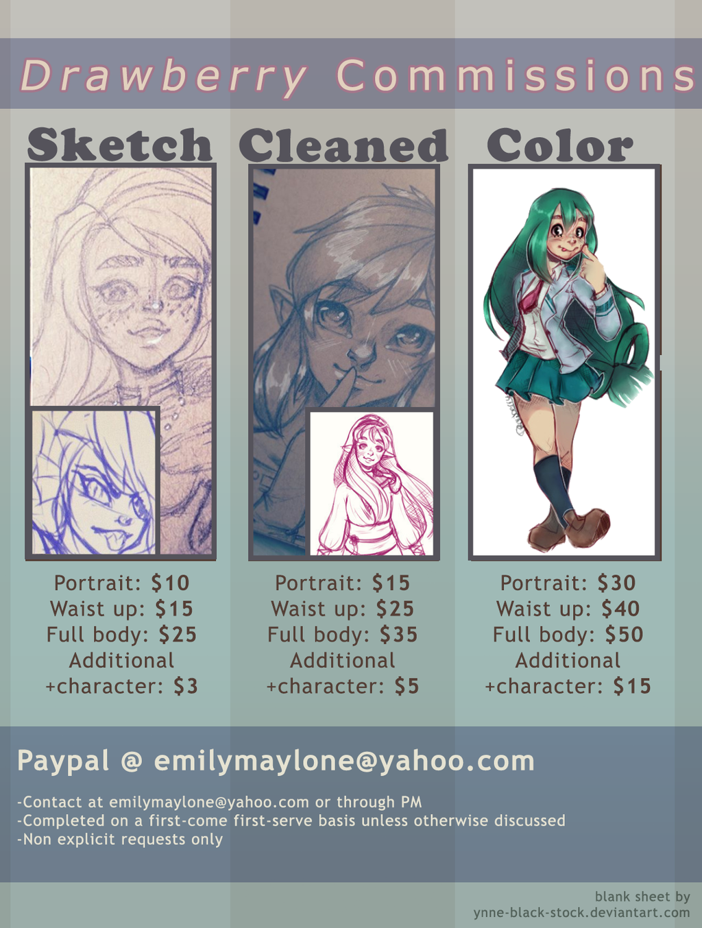 Updated Comission Info by EmmersDrawberry