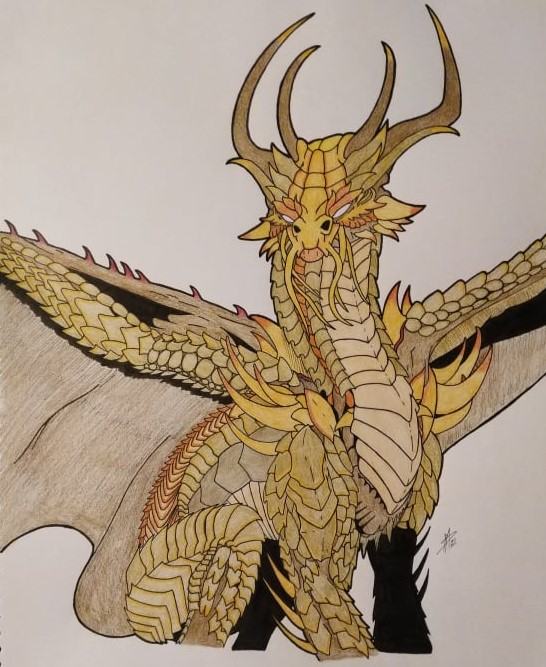 Ancient Gold Dragon Colored